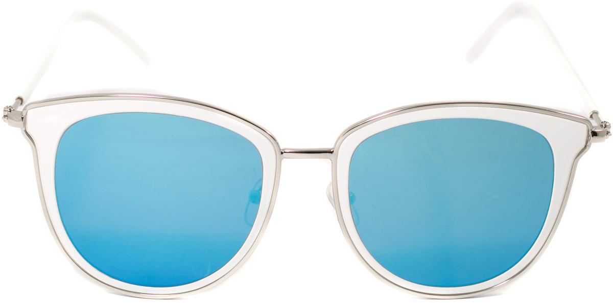 Очки солнцезащитные женские Mitya Veselkov, цвет: белый, синий. OS-125INT-06501Прекрасные антибликовые очки Mitya Veselkov, станут прекрасным и стильным аксессуаром для вас и защитят от УФ лучей. Они помогут глазу более четко распознать картинку, засвеченную солнечными лучами, при этом скорректируют все возникшие искажения.