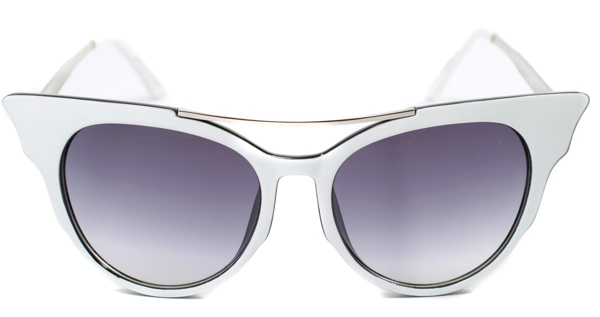 Очки солнцезащитные женские Mitya Veselkov, цвет: белый. OS-177BM8434-58AEПрекрасные антибликовые очки Mitya Veselkov, станут прекрасным и стильным аксессуаром для вас и защитят от УФ лучей. Они помогут глазу более четко распознать картинку, засвеченную солнечными лучами, при этом скорректируют все возникшие искажения.