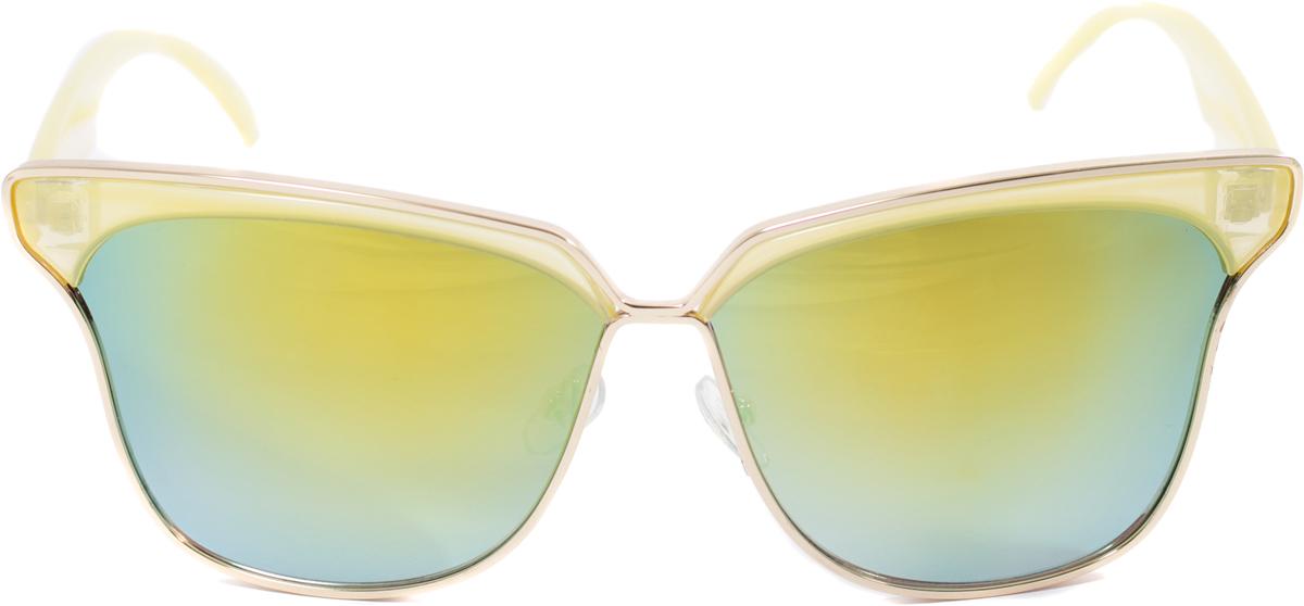 Очки солнцезащитные женские Mitya Veselkov, цвет: желтый. OS-114INT-06501Прекрасные антибликовые очки Mitya Veselkov, станут прекрасным и стильным аксессуаром для вас и защитят от УФ лучей. Они помогут глазу более четко распознать картинку, засвеченную солнечными лучами, при этом скорректируют все возникшие искажения.