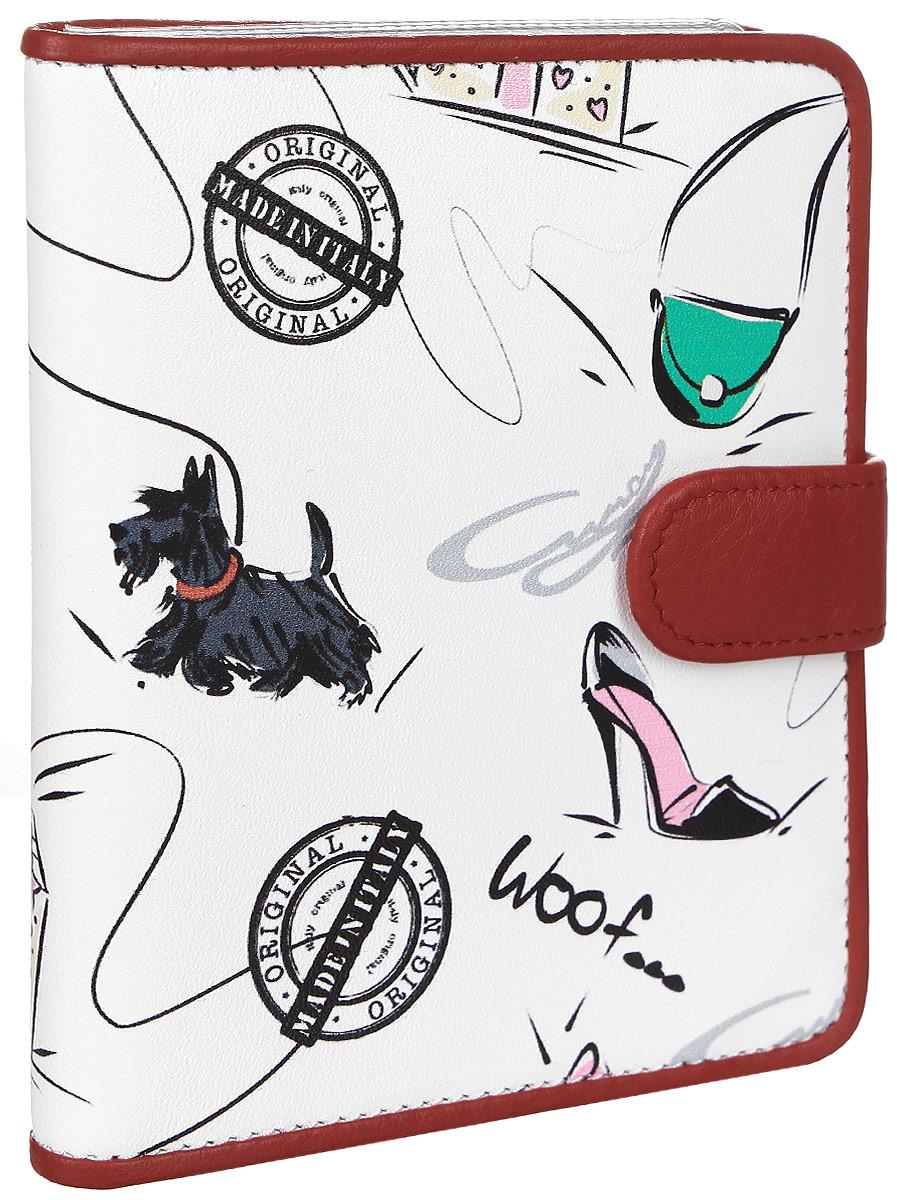 Обложка для автодокументов женская Curanni Сони, цвет: белый, красный. п105Ветерок 2ГФОбложка для автодокументов итальянского бренда Fiato от известной дизайнерской студии Sepani lab, сделана из натуральной кожи.