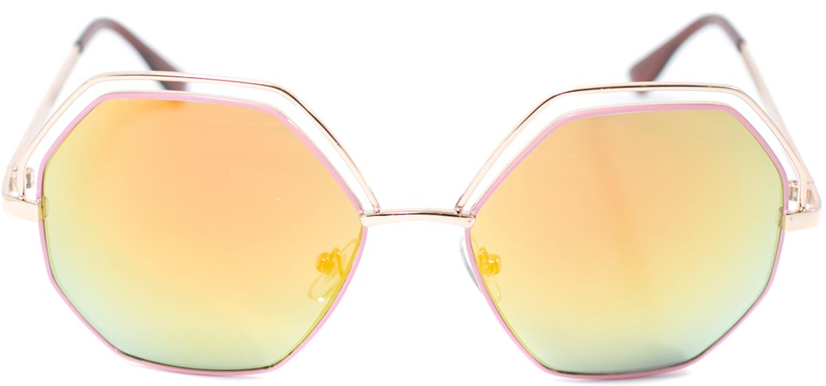 Очки солнцезащитные женские Mitya Veselkov, цвет: золотистый. OS-1291900671-5605Прекрасные антибликовые очки Mitya Veselkov, станут прекрасным и стильным аксессуаром для вас и защитят от УФ лучей. Они помогут глазу более четко распознать картинку, засвеченную солнечными лучами, при этом скорректируют все возникшие искажения.