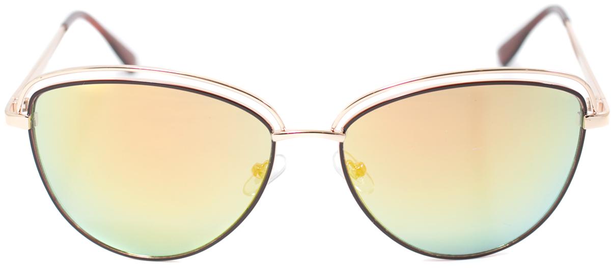 Очки солнцезащитные женские Mitya Veselkov, цвет: золотистый. OS-157BM8434-58AEПрекрасные антибликовые очки Mitya Veselkov, станут прекрасным и стильным аксессуаром для вас и защитят от УФ лучей. Они помогут глазу более четко распознать картинку, засвеченную солнечными лучами, при этом скорректируют все возникшие искажения.