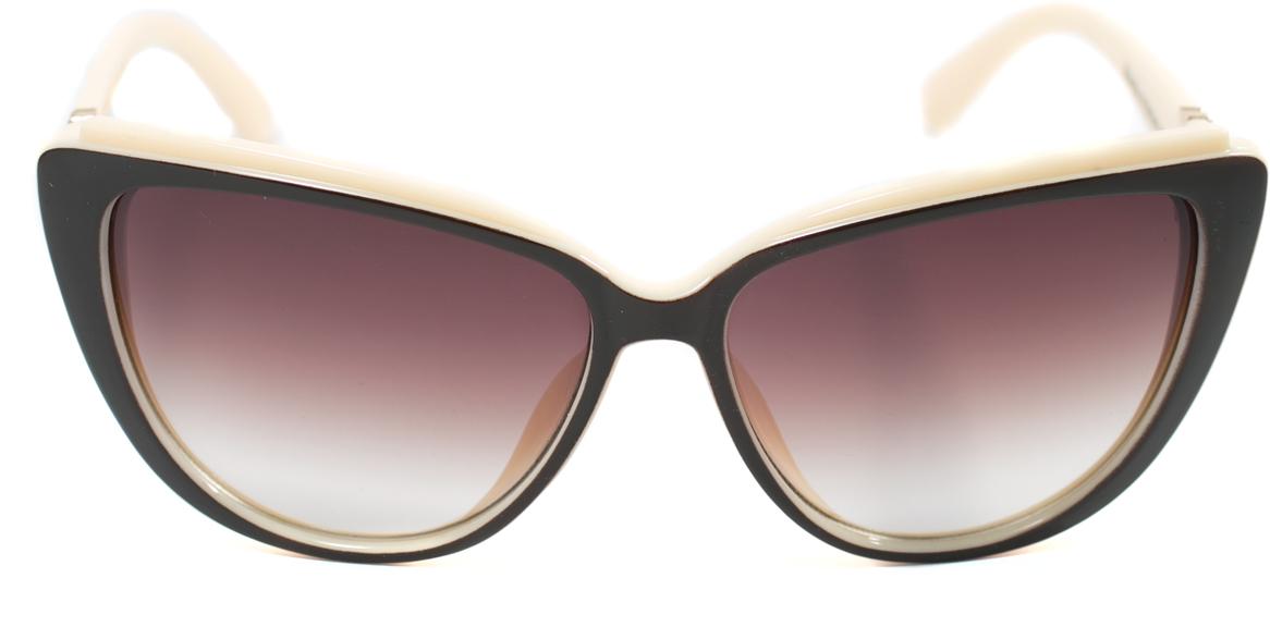 Очки солнцезащитные женские Mitya Veselkov, цвет: коричневый, белый. OS-172BM8434-58AEПрекрасные антибликовые очки Mitya Veselkov, станут прекрасным и стильным аксессуаром для вас и защитят от УФ лучей. Они помогут глазу более четко распознать картинку, засвеченную солнечными лучами, при этом скорректируют все возникшие искажения.