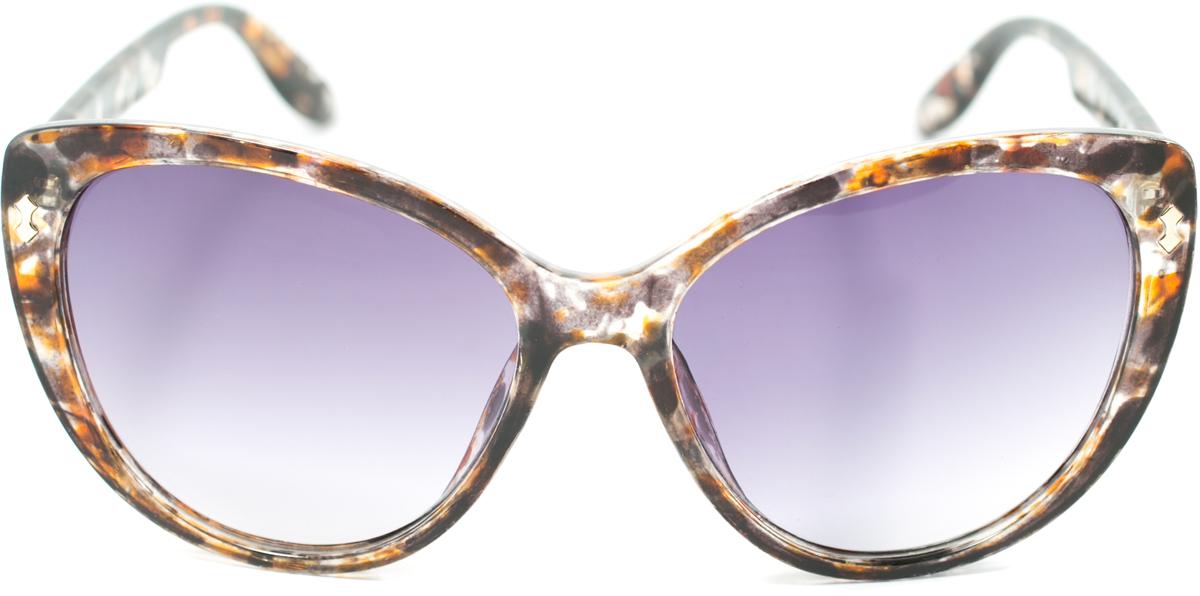 Очки солнцезащитные женские Mitya Veselkov, цвет: коричневый, оранжевый. OS-163MSK-1704-5Прекрасные антибликовые очки Mitya Veselkov, станут прекрасным и стильным аксессуаром для вас и защитят от УФ лучей. Они помогут глазу более четко распознать картинку, засвеченную солнечными лучами, при этом скорректируют все возникшие искажения.