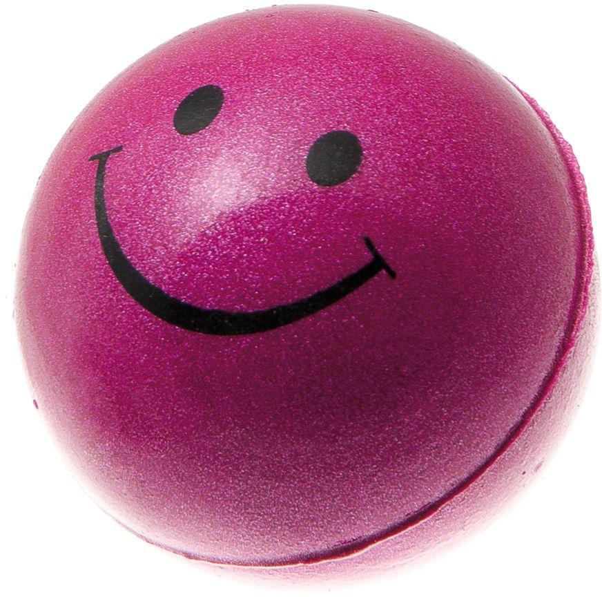 Мяч V.I.Pet Смайлик, цвет: розовый металлик, диаметр 47 мм. 20-110275318Предназначен для игр, тренировок и активного отдыха с животными. Мяч заинтересует и увлечёт вашего питомца. Сделана из абсолютно безопасного и качественного материала. Материал: вспененная резина.