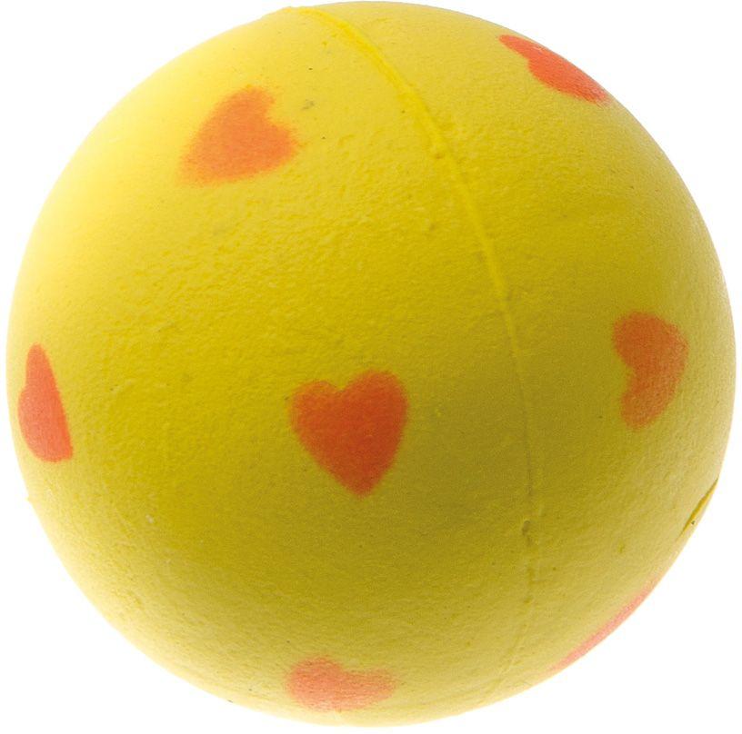 Мяч V.I.Pet Сердечки, цвет: желтый, диаметр 47 мм. 20-11060120710Предназначен для игр, тренировок и активного отдыха с животными. Мяч заинтересует и увлечёт вашего питомца. Сделана из абсолютно безопасного и качественного материала. Материал: вспененная резина.