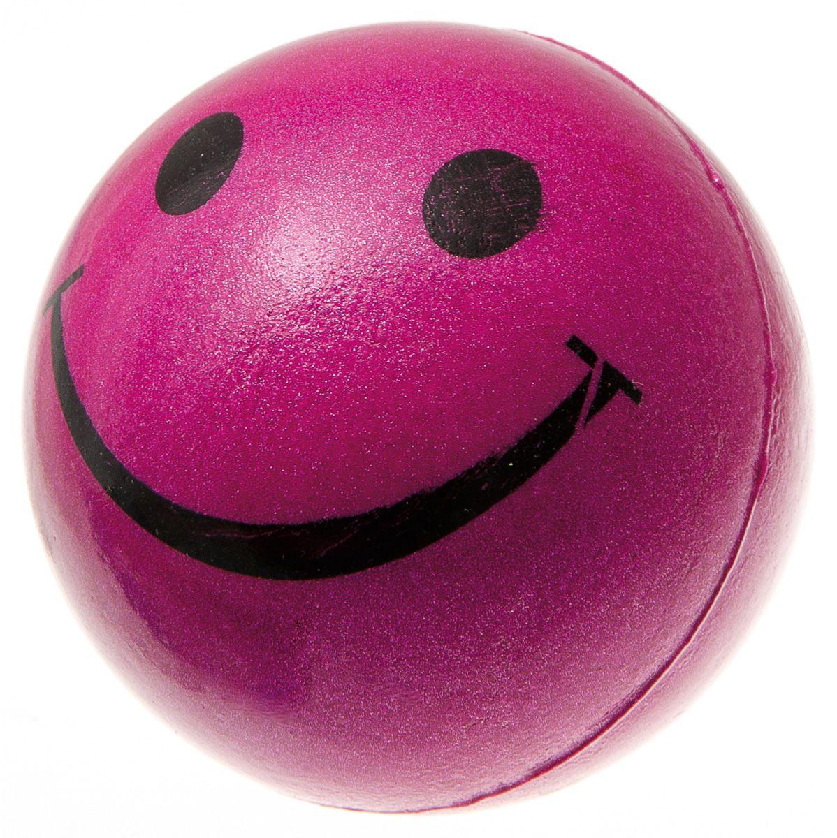 Мяч V.I.Pet Смайлик, цвет: розовый, диаметр 63 мм. 20-11150120710Предназначен для игр, тренировок и активного отдыха с животными. Мяч заинтересует и увлечёт вашего питомца. Сделана из абсолютно безопасного и качественного материала. Материал: вспененная резина.