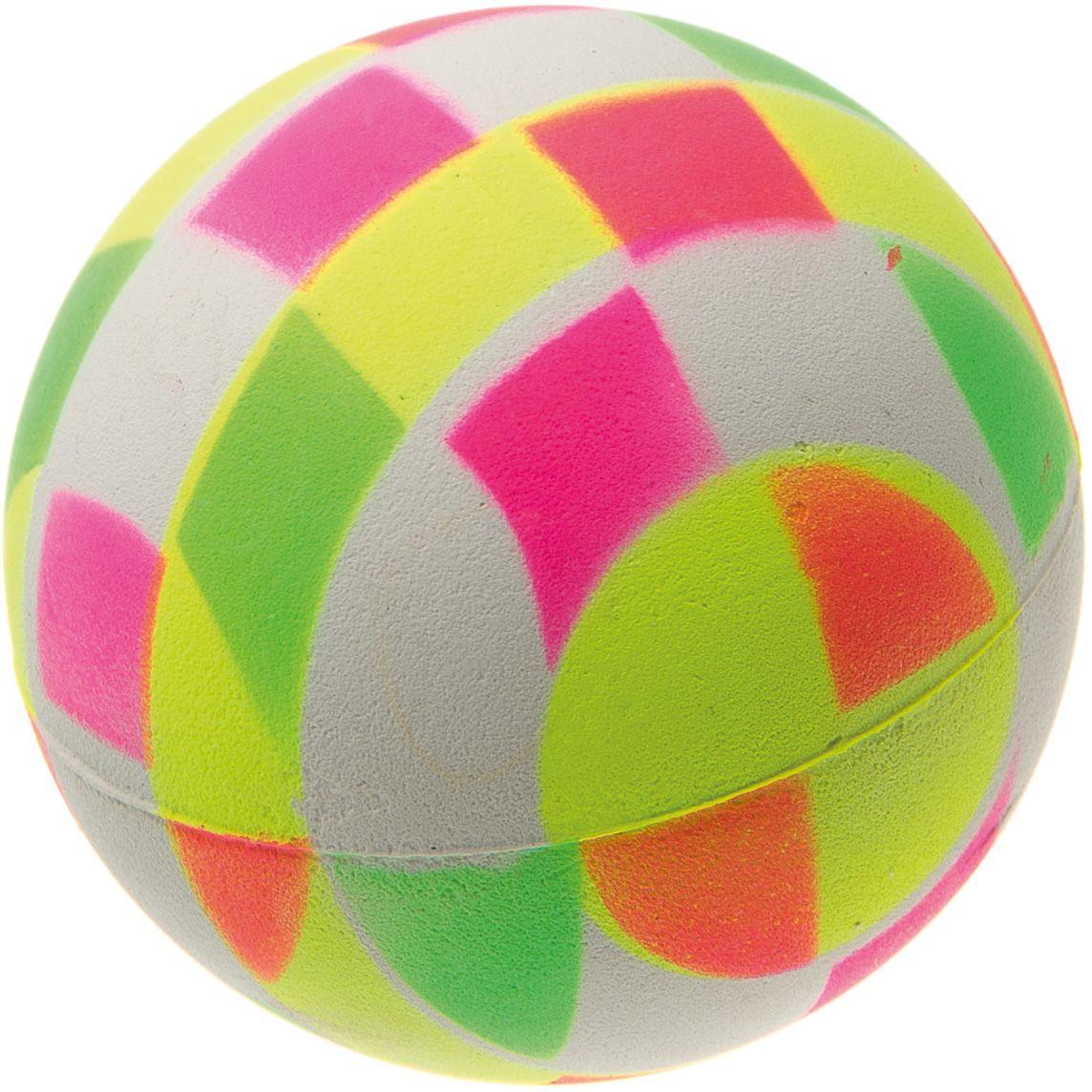 Мяч V.I.Pet Неон, цвет: мультиколор, диаметр 63 мм. 20-1120D-1272Мяч V.I.Pet Неон предназначен для игр, тренировок и активного отдыха с животными. Мяч заинтересует и увлечет вашего питомца. Сделана из абсолютно безопасного и качественного материала. Материал: вспененная резина.