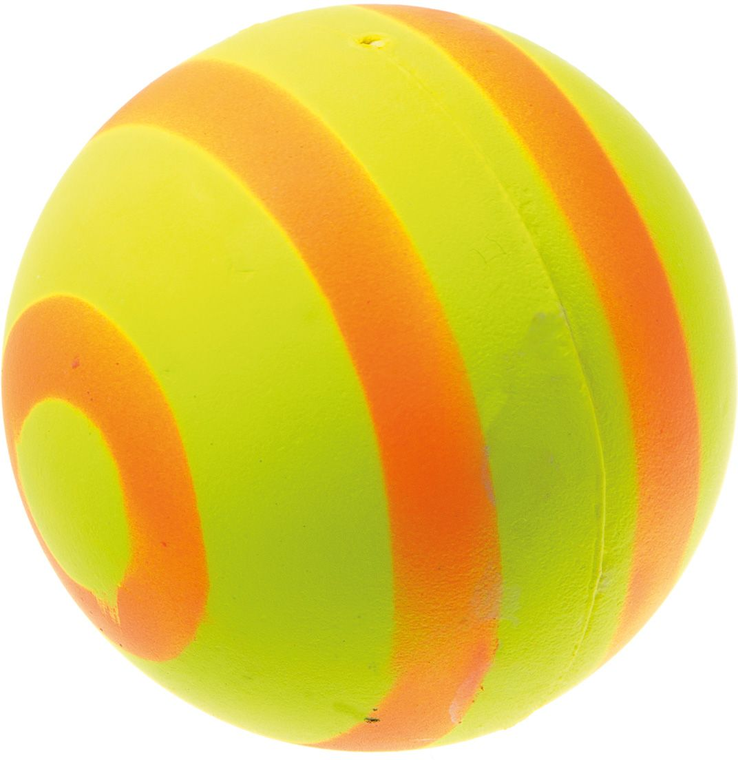Мяч V.I.Pet Неон, цвет: желтый, оранжевый, диаметр 63 мм. 20-11210120710Мяч V.I.Pet Неон предназначен для игр, тренировок и активного отдыха с животными. Мяч заинтересует и увлечет вашего питомца. Сделана из абсолютно безопасного и качественного материала. Материал: вспененная резина.