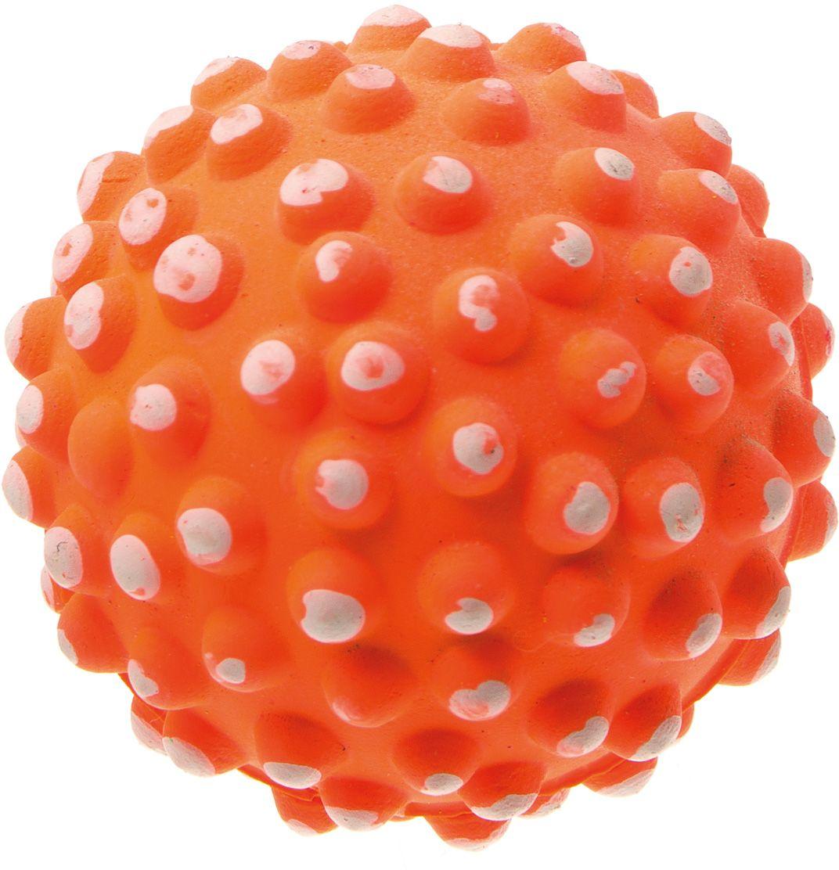 Мяч V.I.Pet Коралл, цвет: оранжевый, диаметр 72 мм. 20-11280120710Мяч V.I.Pet Коралл предназначен для игр, тренировок и активного отдыха с животными. Мяч заинтересует и увлечёт вашего питомца. Сделана из абсолютно безопасного и качественного материала. Материал: вспененная резина.