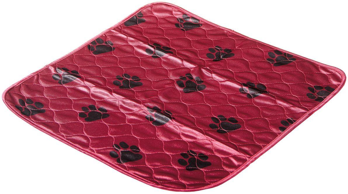 Пеленка впитывающая V.I.Pet, многоразовая, цвет: бордовый, 53 х 53 см. 5353M-BD0120710Для щенков, котят, собак мелких пород. Используются как комфортные впитывающие подстилки в туалетных лотках, в переносках, в автомобиле. Преимущество этих пеленок в том, что они устойчивы к воздействию когтей и зубов. А также жидкость при попадании на край пеленки, не растекается, как это бывает с одноразовыми пеленками, а локально впитывается. Супервпитывающие многоразовые пеленки состоят из четырёх слоёв: - первый слой - приятная на ощупь поверхность из микрофибры, которая хорошо пропускает влагу, быстро сохнет,- второй слой отлично впитывает, не давая жидкости растекаться,- полиуретановый слой исключает протекание жидкости. Многоразовые пеленки не загрязняют окружающую среду.