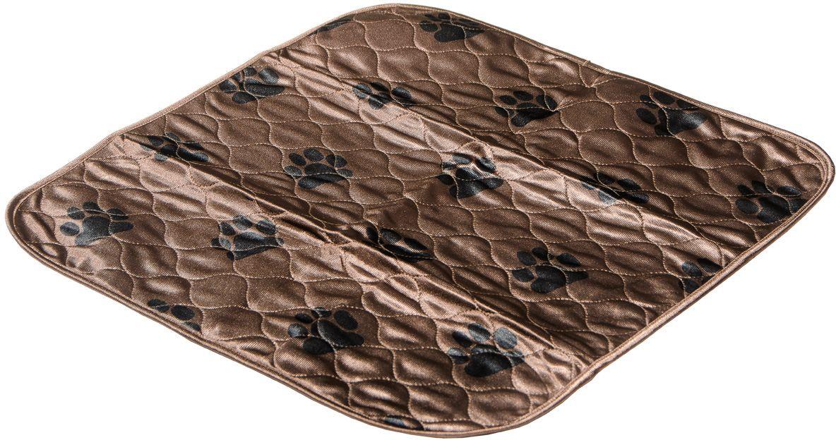 Пеленка впитывающая V.I.Pet, многоразовая, цвет: коричневый, 53 х 53 см. 5353M-BR0120710Для щенков, котят, собак мелких пород. Используются как комфортные впитывающие подстилки в туалетных лотках, в переносках, в автомобиле. Преимущество этих пеленок в том, что они устойчивы к воздействию когтей и зубов. А также жидкость при попадании на край пеленки, не растекается, как это бывает с одноразовыми пеленками, а локально впитывается. Супервпитывающие многоразовые пеленки состоят из четырёх слоёв: - первый слой - приятная на ощупь поверхность из микрофибры, которая хорошо пропускает влагу, быстро сохнет,- второй слой отлично впитывает, не давая жидкости растекаться,- полиуретановый слой исключает протекание жидкости. Многоразовые пеленки не загрязняют окружающую среду.