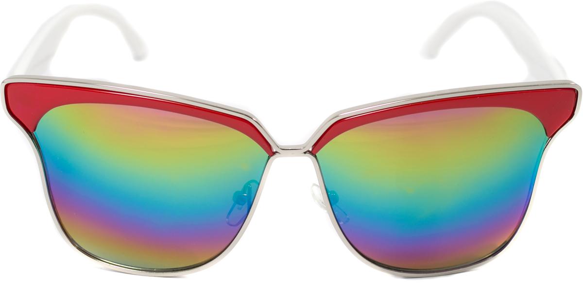 Очки солнцезащитные женские Mitya Veselkov, цвет: красный. OS-112BM8434-58AEПрекрасные антибликовые очки Mitya Veselkov, станут прекрасным и стильным аксессуаром для вас и защитят от УФ лучей. Они помогут глазу более четко распознать картинку, засвеченную солнечными лучами, при этом скорректируют все возникшие искажения.
