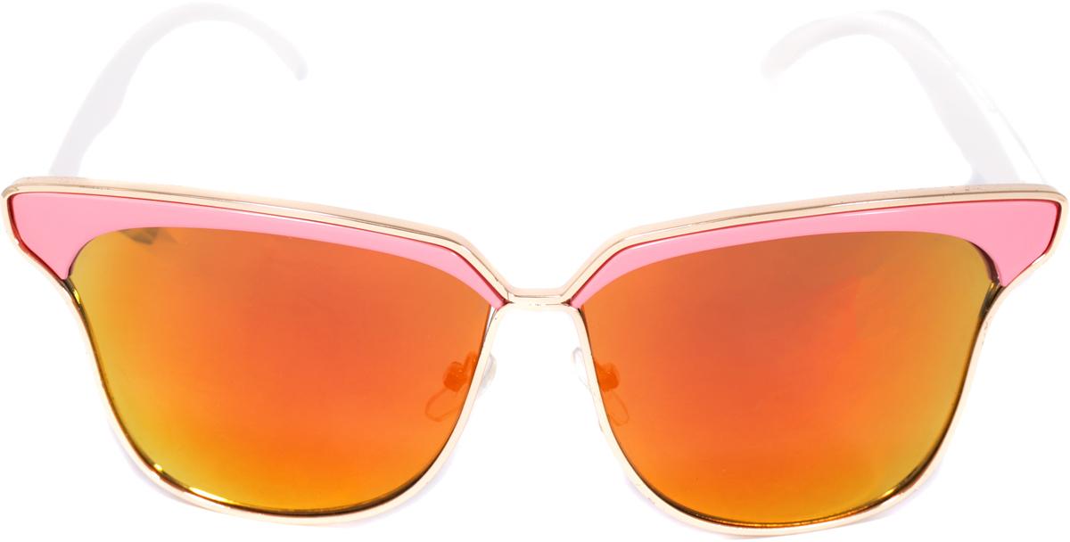 Очки солнцезащитные женские Mitya Veselkov, цвет: розовый. OS-234INT-06501Прекрасные антибликовые очки Mitya Veselkov, станут прекрасным и стильным аксессуаром и защитят от УФ лучей. Они помогут глазу более четко распознать картинку, засвеченную солнечными лучами, при этом скорректируют все возникшие искажения.