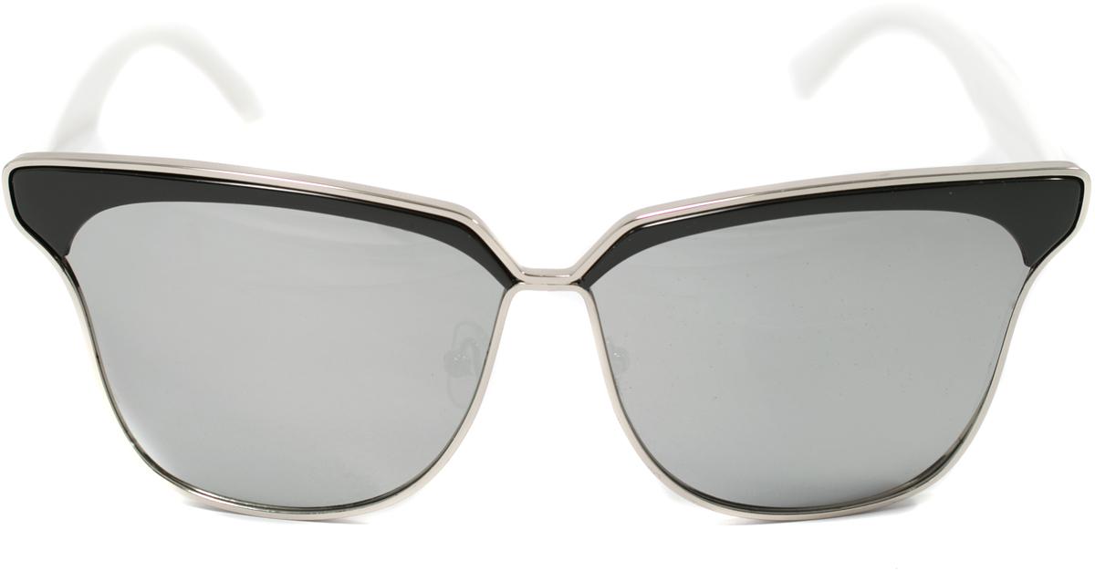 Очки солнцезащитные женские Mitya Veselkov, цвет: черный, белый. OS-111INT-06501Прекрасные антибликовые очки Mitya Veselkov, станут прекрасным и стильным аксессуаром для вас и защитят от УФ лучей. Они помогут глазу более четко распознать картинку, засвеченную солнечными лучами, при этом скорректируют все возникшие искажения.