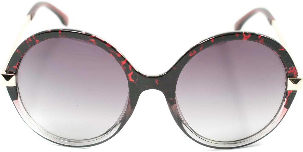 Очки солнцезащитные женские Mitya Veselkov, цвет: черный, бордовый. OS-120INT-06501Прекрасные антибликовые очки Mitya Veselkov, станут прекрасным и стильным аксессуаром для вас и защитят от УФ лучей. Они помогут глазу более четко распознать картинку, засвеченную солнечными лучами, при этом скорректируют все возникшие искажения.