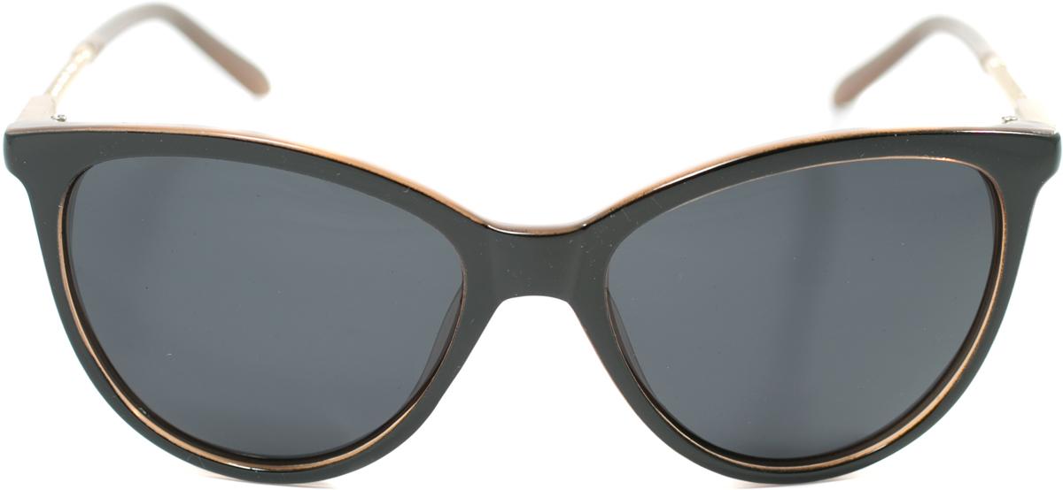 Очки солнцезащитные женские Mitya Veselkov, цвет: черный, коричневый. OS-174INT-06501Прекрасные антибликовые очки Mitya Veselkov, станут прекрасным и стильным аксессуаром для вас и защитят от УФ лучей. Они помогут глазу более четко распознать картинку, засвеченную солнечными лучами, при этом скорректируют все возникшие искажения.