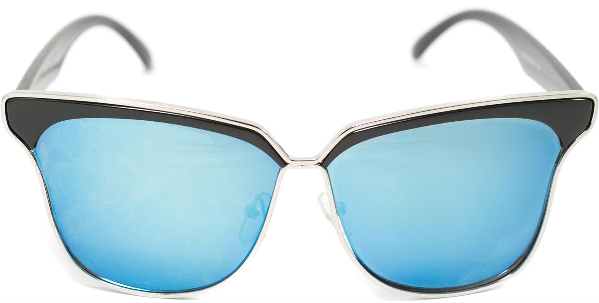 Очки солнцезащитные женские Mitya Veselkov, цвет: черный, синий. OS-113BM8434-58AEПрекрасные антибликовые очки Mitya Veselkov, станут прекрасным и стильным аксессуаром для вас и защитят от УФ лучей. Они помогут глазу более четко распознать картинку, засвеченную солнечными лучами, при этом скорректируют все возникшие искажения.