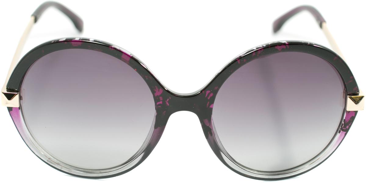 Очки солнцезащитные женские Mitya Veselkov, цвет: черный, фиолетовый. OS-122INT-06501Прекрасные антибликовые очки Mitya Veselkov, станут прекрасным и стильным аксессуаром для вас и защитят от УФ лучей. Они помогут глазу более четко распознать картинку, засвеченную солнечными лучами, при этом скорректируют все возникшие искажения.