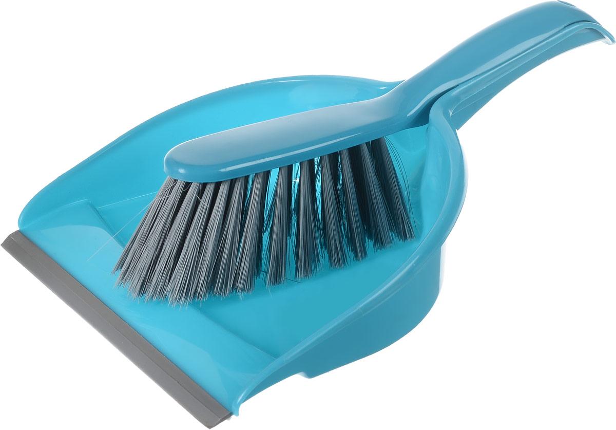 Набор для уборки York Компакт, цвет: бирюзовый, серый, 2 предметаHM-45133_серыйНабор для уборки York Компакт состоит из совка и щетки-сметки, изготовленных из высококачественного полипропилена. Вместительный совок удерживает собранный мусор, позволяет эффективно и быстро совершать уборку в любом помещении. Прорезиненный край совка обеспечивает наиболее плотное прилегание к полу. Щетка-сметка с жестким ворсом из высококачественного полимера имеет удобную форму, позволяет вымести мусор даже из труднодоступных мест. Совок и щетка-сметка оснащены ручками с отверстиями для подвешивания. С набором York Компакт уборка станет легче и приятнее.Общая длина щетки-сметки: 30 см.Длина ворса щетки-сметки: 6,5 см.Длина совка: 33,5 см.Ширина совка: 22 см.