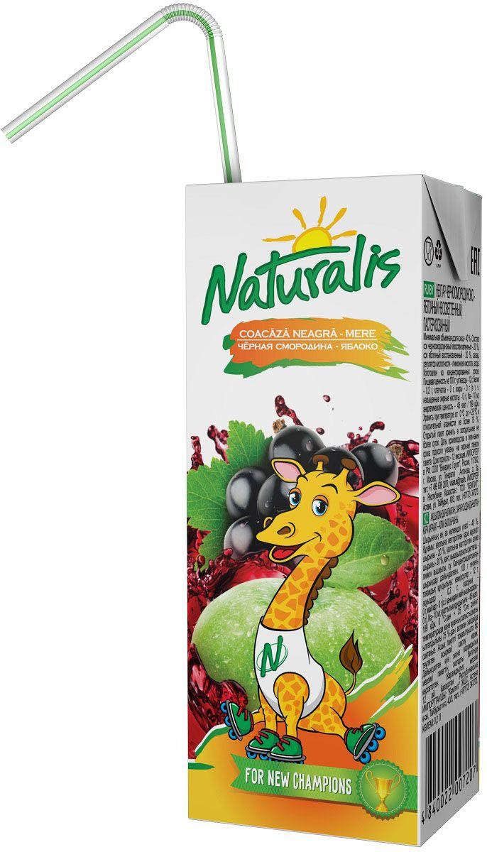 Naturalis нектар черносмородиново-яблочный неосветленный, 0,2 л0120710Нектар черносмородиново-яблочный Naturalis - отличное сочетание яблочной сладости и смородиновой кислинки. Черная смородина – это кладезь витаминов С и Е, которые помогает быть здоровыми и прекрасно выглядеть. Этот удивительный цвет, вкус и аромат не возможно не полюбить. Naturalis в пакете 200 мл с трубочкой - это порционная упаковка, которая понравится вашему ребенку. Без ароматизаторов, красителей и консервантов.