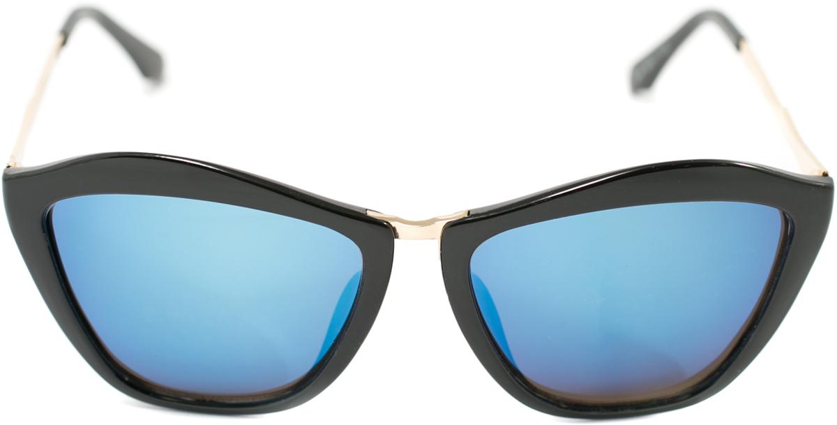 Очки солнцезащитные женские Mitya Veselkov, цвет: черный. OS-153BM8434-58AEПрекрасные антибликовые очки Mitya Veselkov, станут прекрасным и стильным аксессуаром для вас и защитят от УФ лучей. Они помогут глазу более четко распознать картинку, засвеченную солнечными лучами, при этом скорректируют все возникшие искажения.