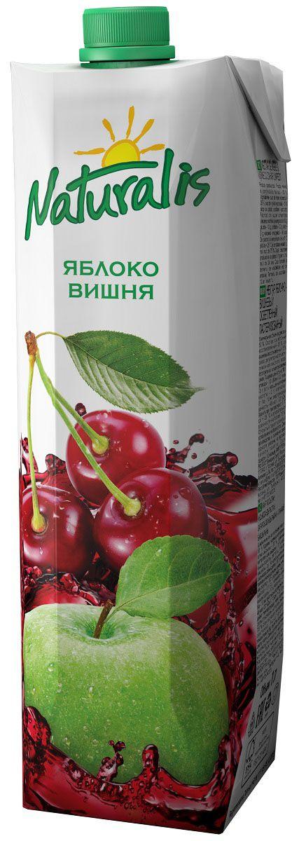 Naturalis нектар яблочно-вишневый осветленный, 1 л0120710Яблочно-вишневый нектар Naturalis понравится вам своей сбалансированностью. Классический яблочный нектар в сочетании с кислинкой вишни становится более полным и сбалансированным. Большое содержание витаминов группы B в вишне вместе с железом, медью и магнием дают замечательный эффект при малокровии и заболеваниях, связанных с системой кроветворения. Без ароматизаторов, красителей и консервантов.