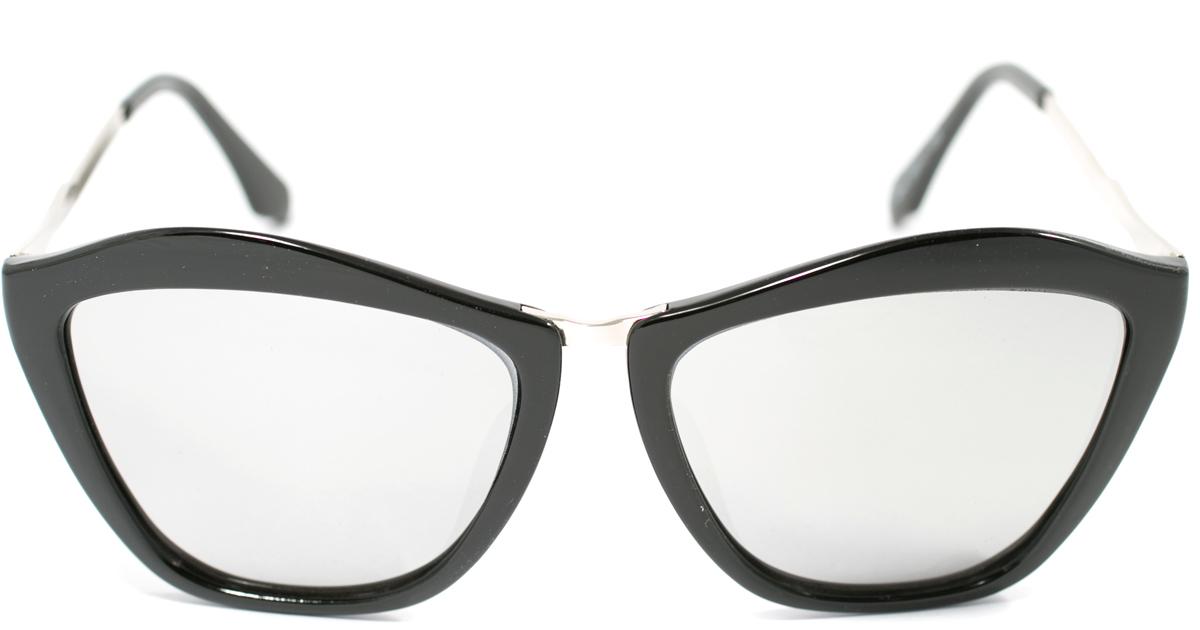 Очки солнцезащитные женские Mitya Veselkov, цвет: черный. OS-156INT-06501Прекрасные антибликовые очки Mitya Veselkov, станут прекрасным и стильным аксессуаром для вас и защитят от УФ лучей. Они помогут глазу более четко распознать картинку, засвеченную солнечными лучами, при этом скорректируют все возникшие искажения.