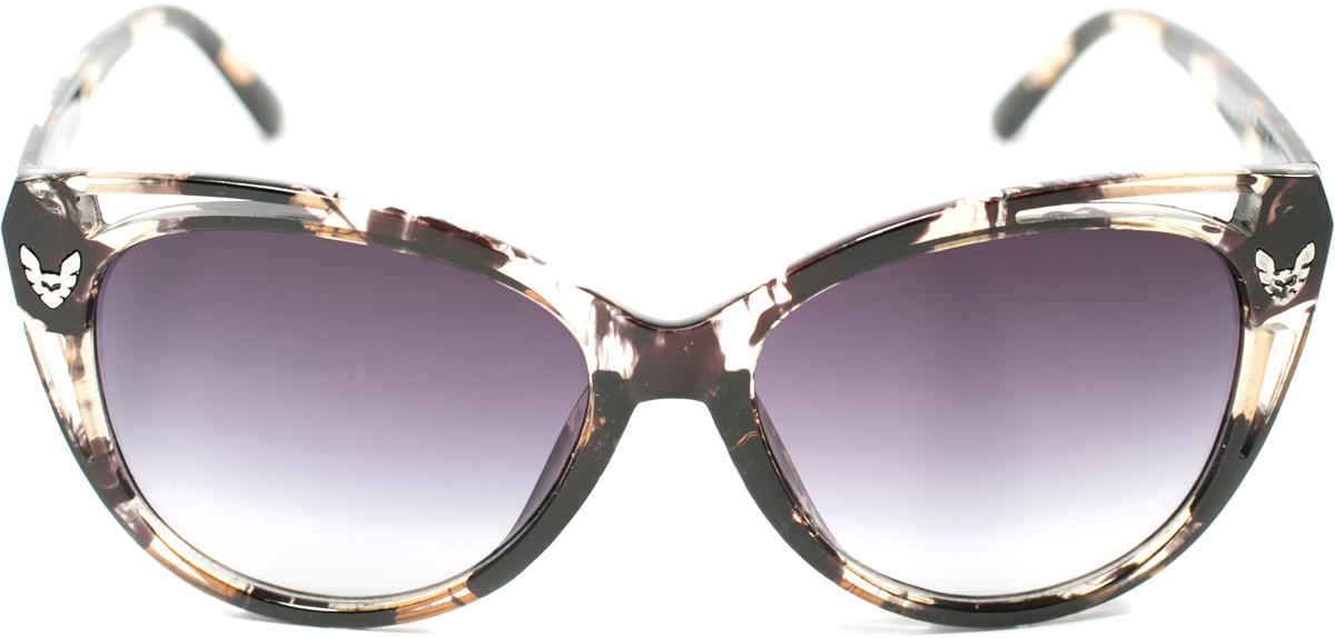 Очки солнцезащитные женские Mitya Veselkov, цвет: черный. OS-161BM8434-58AEПрекрасные антибликовые очки Mitya Veselkov, станут прекрасным и стильным аксессуаром для вас и защитят от УФ лучей. Они помогут глазу более четко распознать картинку, засвеченную солнечными лучами, при этом скорректируют все возникшие искажения.