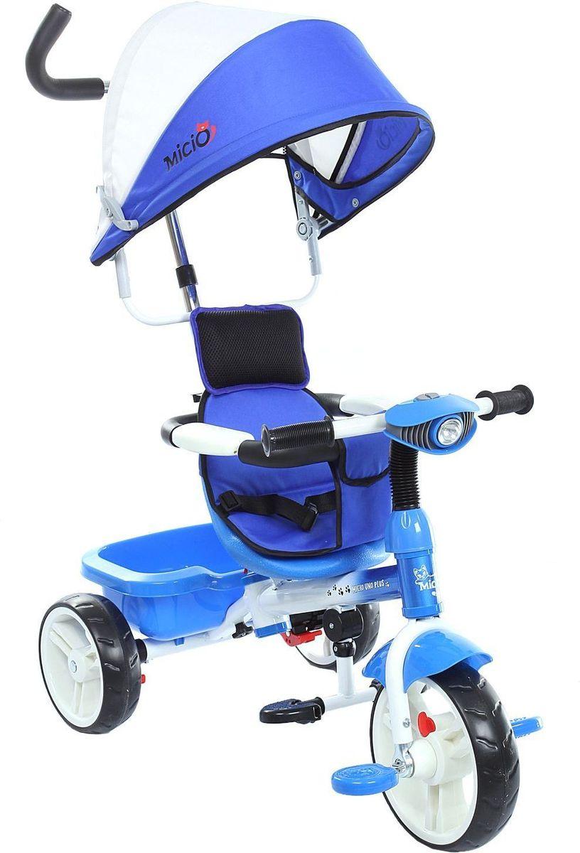Micio Велосипед детский трехколесный Micio Uno Plus 2016 цвет синий белый