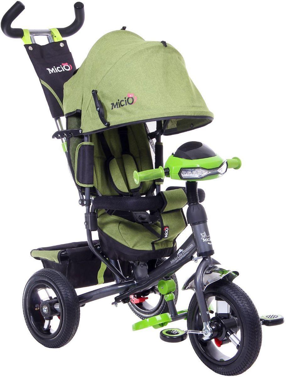 Micio Велосипед детский трехколесный City Premium 2017 цвет зеленый -  Велосипеды-каталки