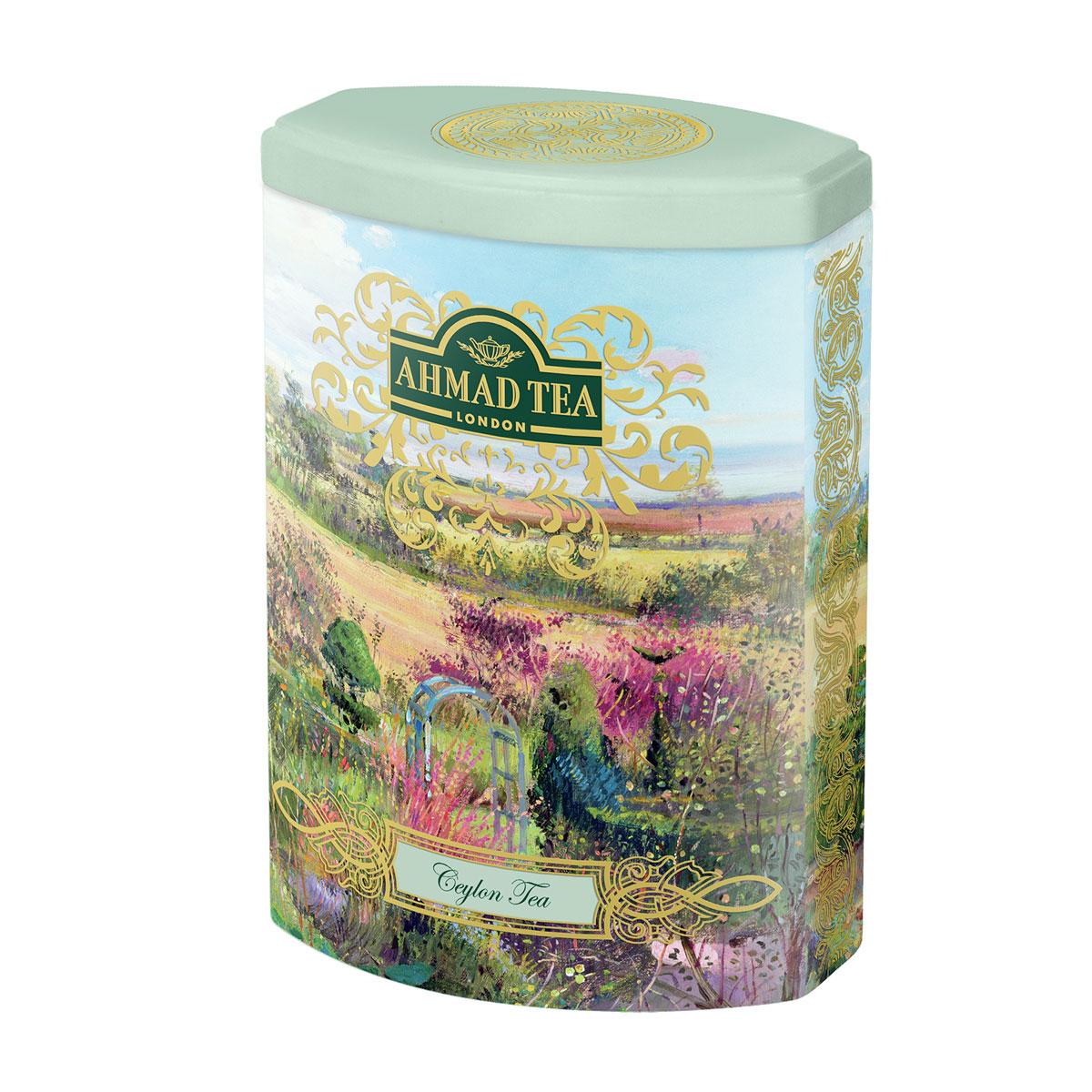 Ahmad Tea Ceylon Tea черный чай, 100 г (жестяная банка)0120710Цейлонский чай из верхних листочков оранж пеко (оранжевая полоса). Англичане традиционно предпочитают безупречное качество, считая его залогом благополучия и стабильности. Смесь верхних листьев высокогорного цейлонского чая в совершенном исполнении Ахмад Ти необычайно богата ароматом, золотистым цветом и характерным вкусом. Хорошо сочетается с лимоном.