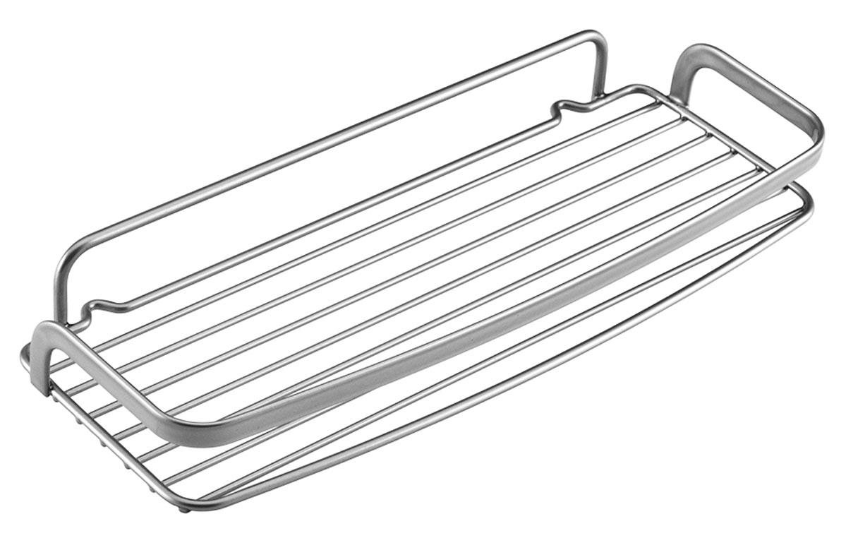 Полка настенная Metaltex Eureka!, 30 х 12 х 4 смSC-FD421004Навесная полка Metaltex Eureka! изготовлена из стали и покрыта полимерным покрытием Polytherm. Такая полка не только экономит место на вашей кухне, но и обеспечивает наглядность, порядок и удобный доступ к кухонным принадлежностям.Современный дизайн делает ее практичным и стильным домашним аксессуаром. Она пригодится для хранения различных кухонных банок для хранения специй или других принадлежностей, которые всегда будут под рукой.Полка крепится на стену с помощью дополнительного крепления без сверления или обычным способом.