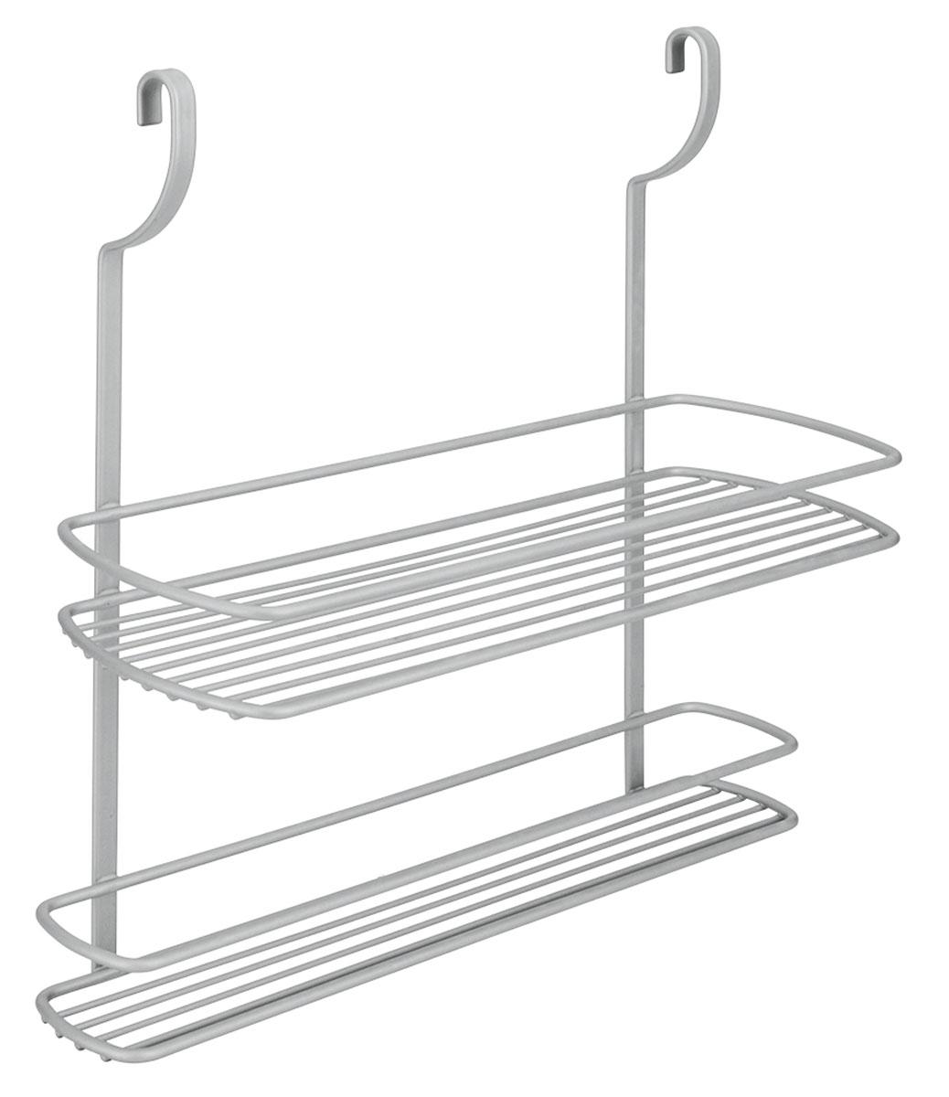 Полка навесная Metaltex City, двухъярусная, 35 х 13 х 38 смВетерок 2ГФНавесная двухъярусная полка Metaltex City изготовлена из стали и покрыта новым полимерным покрытием Frost Polytherm. Такая полка не только экономит место на вашей кухне, но и обеспечивает наглядность, порядок и удобный доступ к кухонным принадлежностям.Современный дизайн делает ее практичным и стильным домашним аксессуаром. Она пригодится для хранения различных кухонных или других принадлежностей, которые всегда будут под рукой.Полка устанавливается на рейлинг с помощь двух крючков.