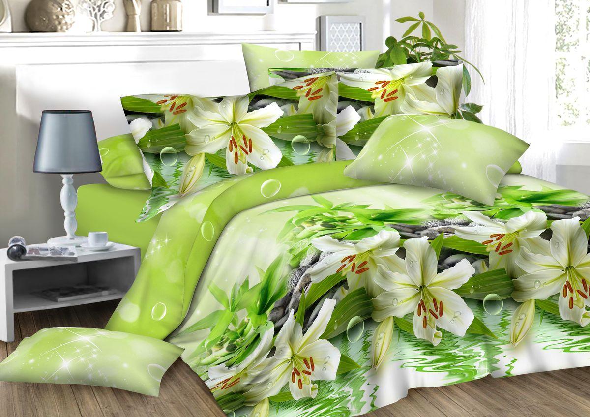 Комплект белья Amore Mio Lilly, 2-спальный, наволочки 70x7082911Комплект постельного белья Amore Mio является экологически безопасным для всей семьи, так как выполнен из сатина (100% хлопок). Постельное белье оформлено оригинальным рисунком и имеет изысканный внешний вид. Сатин - это ткань сатинового (атласного) переплетения нитей. Имеет гладкую, шелковистую лицевую поверхность, на которой преобладают уточные нити (уток - горизонтально расположенные в тканом полотне нити). Сатин изготавливается из крученой хлопковой нити двойного плетения. Он чрезвычайно приятен на ощупь, не электризуется и не скользит по кровати. Сатин прекрасно сохраняет форму и не мнется, отлично пропускает воздух, что позволяет телу дышать и дарит здоровый и комфортный сон.Комплект состоит из пододеяльника, простыни и двух наволочек.