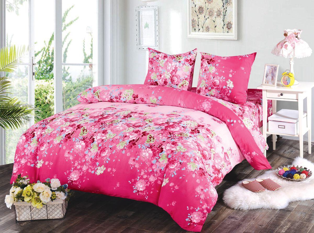 Комплект белья Amore Mio Gracie, 1,5-спальный, наволочки 70x70SVC-300Комплект постельного белья Amore Mio изготовлен из мако-сатина. Нано-инновации позволили открыть новую ткань, которая сочетает в себе широкий спектр отличных потребительских характеристик и невысокой стоимости. Легкая, плотная, мягкая ткань, приятна и обладает эффектом персиковой кожуры. Отлично стирается, гладится, быстро сохнет. Дисперсное крашение великолепно передает качество рисунков и необычайно устойчиво к истиранию.Комплект состоит из пододеяльника, простыни и двух наволочек.