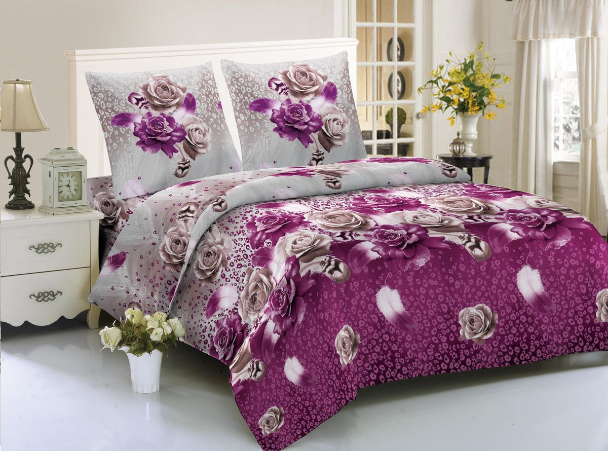 Комплект белья Amore Mio Medellin, 1,5-спальный, наволочки 70x70SVC-300Комплект постельного белья Amore Mio изготовлен из мако-сатина. Нано-инновации позволили открыть новую ткань, которая сочетает в себе широкий спектр отличных потребительских характеристик и невысокой стоимости. Легкая, плотная, мягкая ткань, приятна и обладает эффектом персиковой кожуры. Отлично стирается, гладится, быстро сохнет. Дисперсное крашение великолепно передает качество рисунков и необычайно устойчиво к истиранию.Комплект состоит из пододеяльника, простыни и двух наволочек.