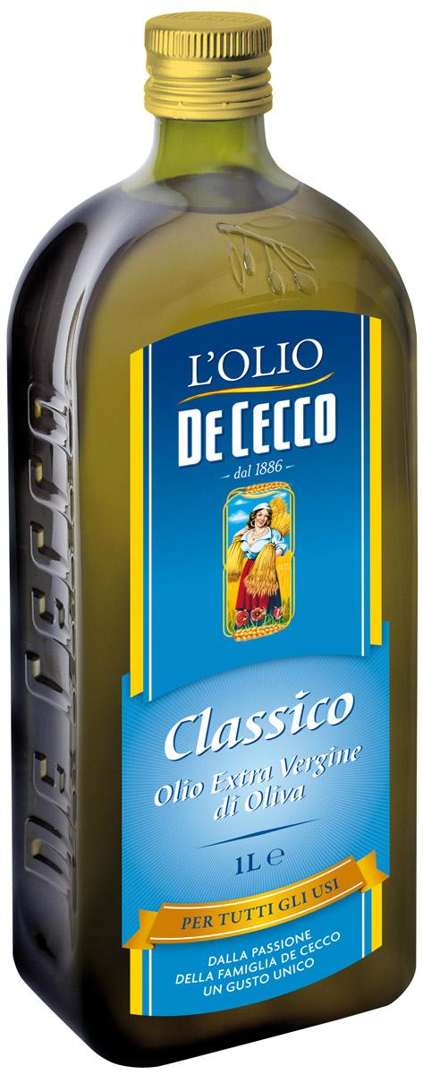 De Cecco Оливковое масло Extra Vergine классическое, 1 л0120710Приятный, сбалансированный вкус масла и аромат свежих оливок может удовлетворить самый требовательный вкус, добавив в блюдо нотки пикантности.