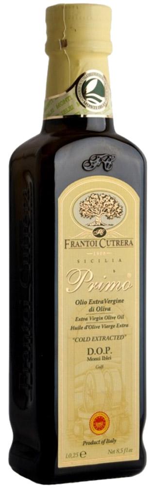 Frantoi Cutrera Оливковое масло нерафинированное Extra Vergine, 250 млгзш003Нерафинированное оливковое масло производится из первого урожая оливок, собранного в октябре механическим путем. Разлитое сразу после отжима по бутылкам, оно сохраняет свой благоуханный аромат свежеотжатого масла.