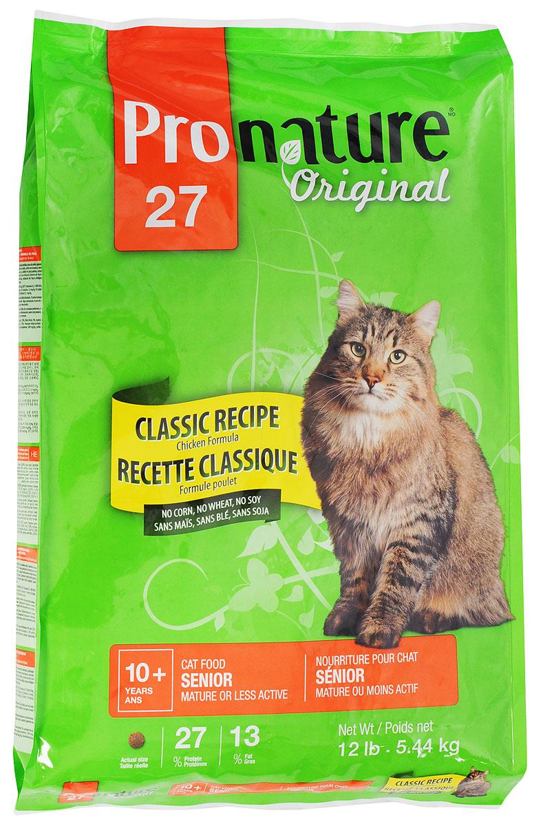 Корм сухой Pronature Original 27 для стареющих кошек, облегченный, с курицей, 5,44 кг102.402Повзрослев и став менее активной, ваша кошка по-прежнему нуждается в тщательно подобранном рационе с учетом физиологических потребностей и вкусовой избирательности. Приготовленная с вниманием и заботой формула корма Pronature Original 27с курицей, без кукурузы, пшеницы и сои, содержит в себе все питательные вещества, необходимые для поддержания здоровья и внешнего вида. Формула де-люкс - для прекрасного самочувствия вашего питомца!Товар сертифицирован.