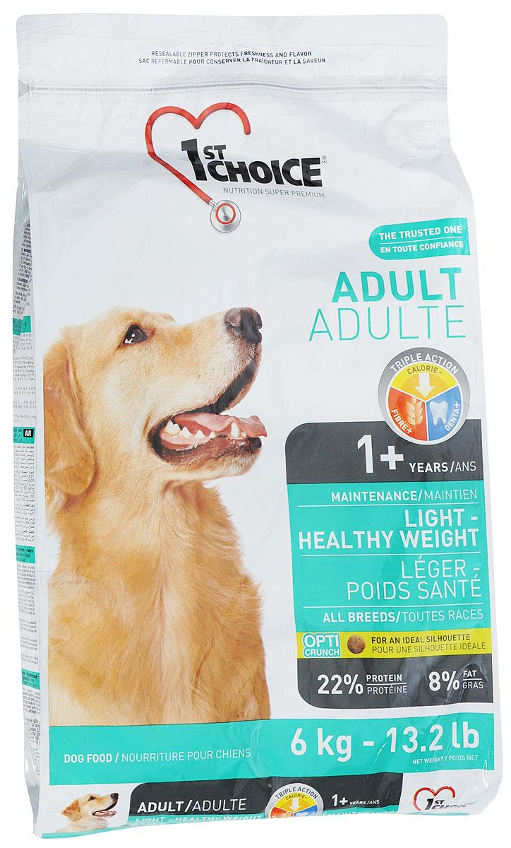 Корм сухой 1st Choice для собак, облегченный, с курицей, 6 кг62334Курица является основным ингредиентом в сбалансированном и очень вкусном корме1st Choice. Сожержит DL-метионин, (натуральная аминокислота) и бисульфат натрия для обеспечения оптимального уровня pH мочи.Количество калорий уменьшено по сравнению с кормом для взрослых собак, для наилучшего соответствия сокращенным энергетическим потребностям вследствие возраста или малоактивного образа жизни.Товар сертифицирован.
