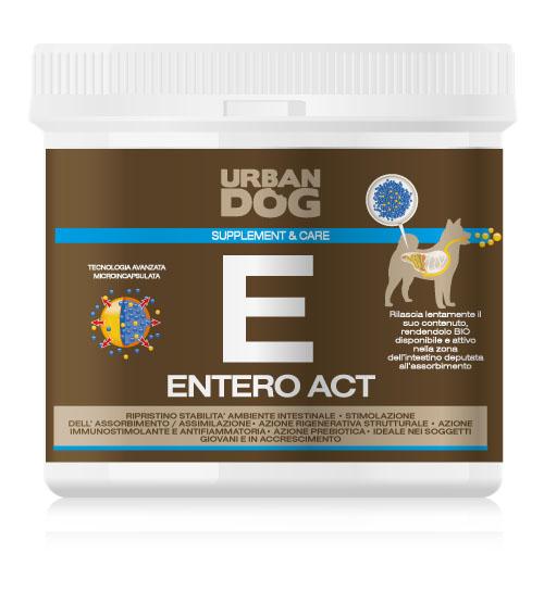 Пищевая добавка для собак Urban Dog Entero Act, для улучшения микрофлоры кишечника, 100 г0120710Пищевая добавкадля собак Urban Dog Entero Act благодаря действию M.O.S. (маннано-олиго-саккариды) восстанавливает правильное развитие форы кишечника и улучшает усвояемость питательных веществ через структурное восстановление стенок кишечника и стимулирует рост шерсти. Entero Act усиливает секрецию иммуноглобулина, ответственного за иммунную защиту слизистой кишечника. Питательная добавка особенно подходит для использования в случаях явного расстройства обмена веществ и диареи.
