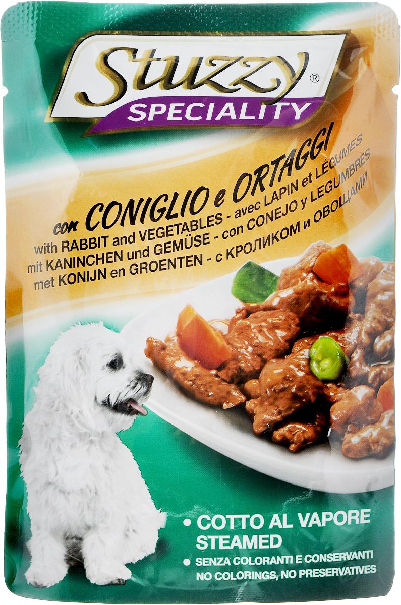 Консервы для собак Stuzzy Speciality, с кроликом и овощами, 100 г0120710Stuzzy Speciality - это полнорационный корм для взрослых собак. Корм обогащен таурином и витамином Е для поддержания правильной работы сердца и иммунной системы. Инулин способствует всасыванию питательных веществ, а биотин, делает шерсть блестящей и шелковистой, и поддерживает здоровое состояние кожных покровов. Корм приготовлен на пару, не содержит усилителей вкуса, красителей и консервантов. Товар сертифицирован.