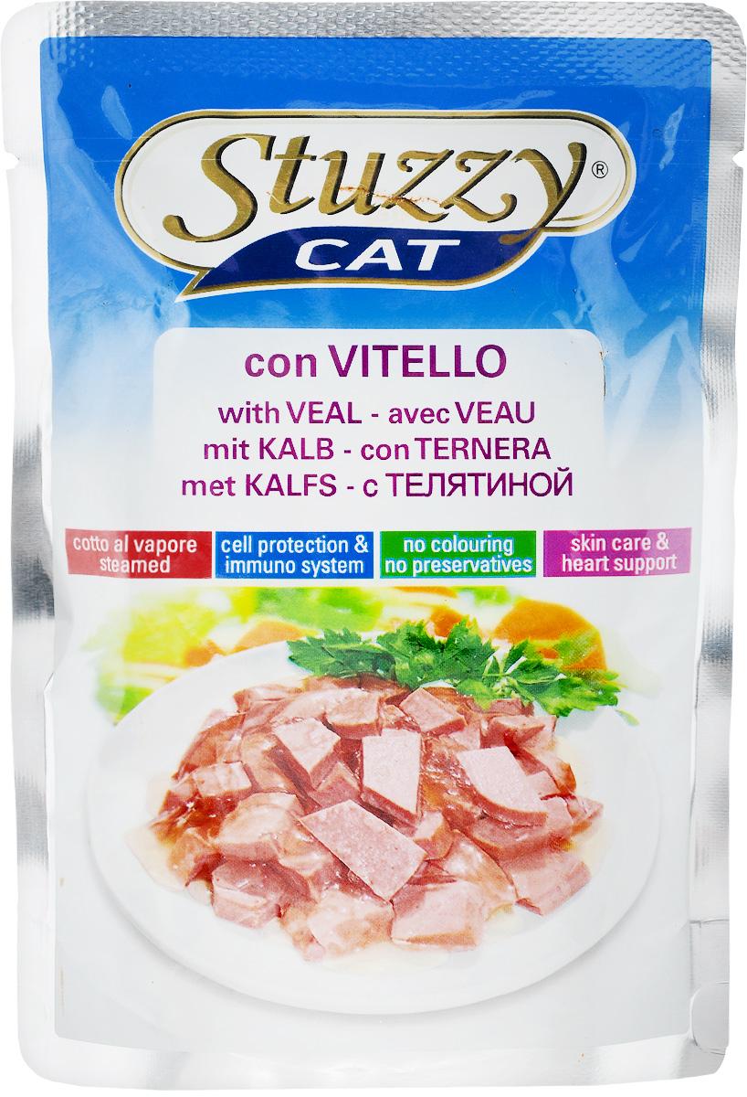Консервы для кошек Stuzzy Stuzzy Cat, с телятиной, 100 г0120710Stuzzy Stuzzy Cat - это полнорационный корм для взрослых кошек. Корм обогащен таурином и витамином Е для поддержания правильной работы сердца и иммунной системы. Инулин способствует всасыванию питательных веществ, а биотин делает шерсть блестящей и шелковистой, и поддерживает здоровое состояние кожных покровов. Корм не содержит усилителей вкуса, красителей и консервантов. Товар сертифицирован.