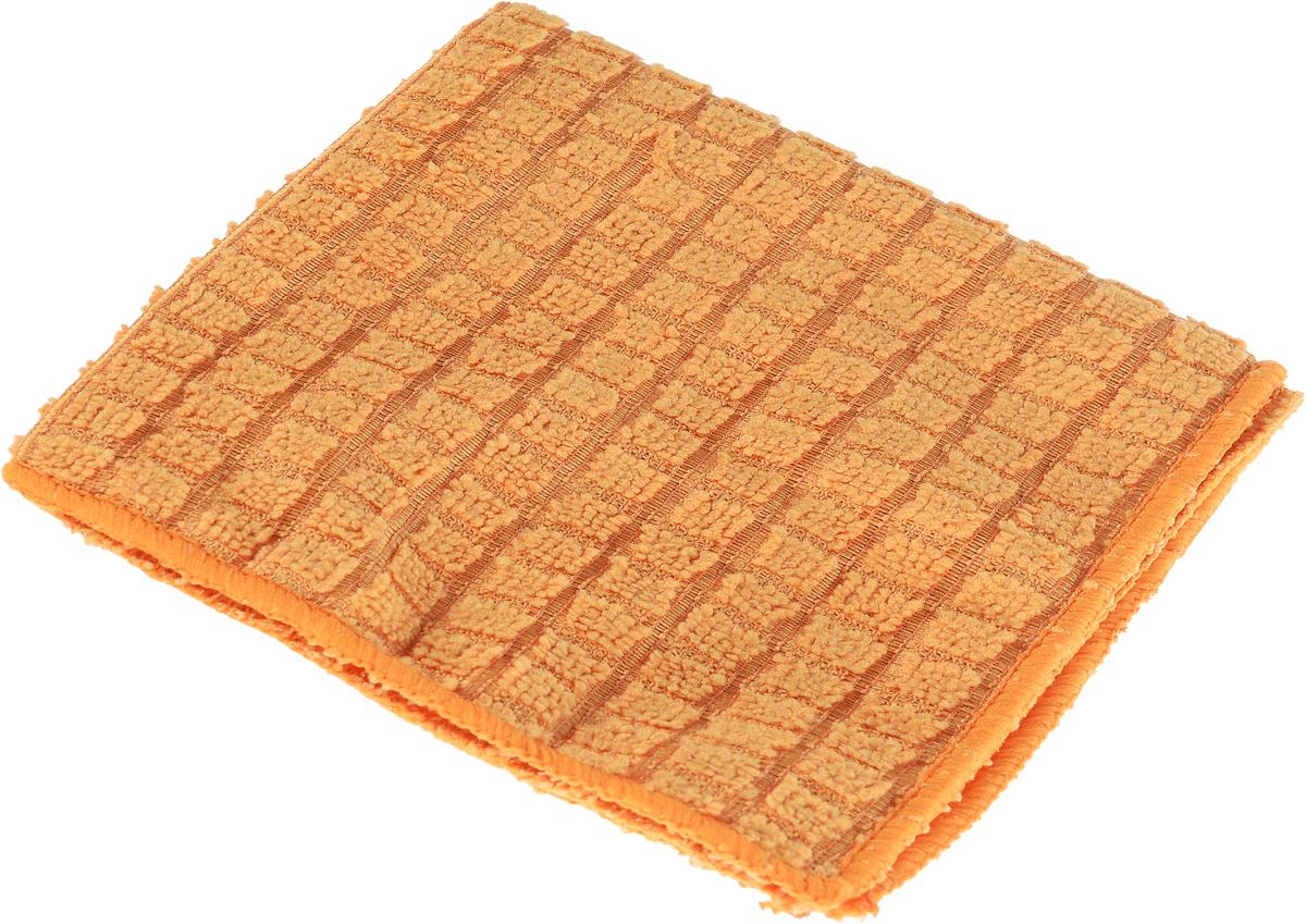 Салфетка для полировки Хозяюшка Мила, 30 см х 30 см531-105Салфетка для полировки Хозяюшка Мила выполнена из микрофибры. Микрофибра – уникальный, прочный, новаторский, гипоаллергенный материал. Сложная структура волокна состоит из двух синтетических волокон: внешняя поверхность – полиэстер (20%) и внутренняя часть – полиамид (80%). Особая структура волокон позволяет буквально втягивать все виды частиц пыли внутрь волокна, надёжно удерживая её. Микрофибра устраняет микробы и бактерии с поверхности. Салфетка предназначена для полировки любых поверхностей: ламинированной, деревянной, кожаной мебели, хромированных и металлических поверхностей, стёкол и зеркал. Не оставляет разводов и ворсинок, прекрасно впитывает влагу, делает поверхность блестящей, как после применения полирующих средств.Размер салфетки: 30 см х 30 см.