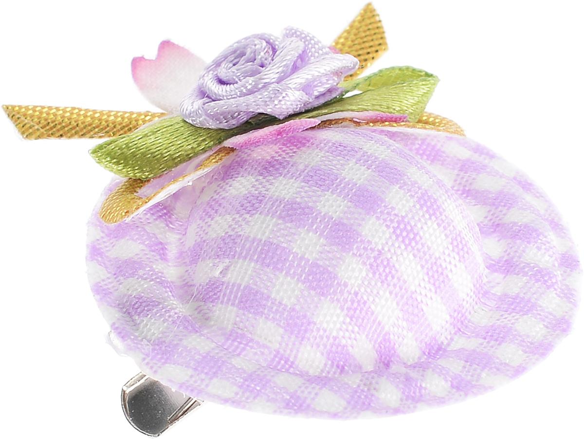 Заколка-шляпка для собак VIPet Ностальжи, цвет: сиреневый, диаметр 3,5 см0120710Заколка-шляпка VIPet Ностальжи - это красивое и стильное украшение для собак. Заколка прекрасно крепится на волосах и позволяет фиксировать шерсть. Выполнена из стали, пластика и тканей различных структур, плотностей и фактур.
