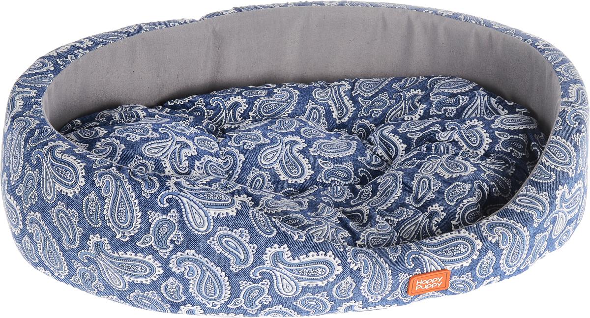 Лежак для животных Happy Puppy Русские сказки 3, цвет: синий, белый, серый, 57 x 44 x 15 см104_серыйУютный лежак для животных Happy Puppy Русские сказки 3 обязательно понравится вашему питомцу. В нем он будет счастлив, так как лежак очень мягкий и приятный. Животное будет проводить все свое свободное время в нем, отдыхать, наслаждаясь удобством. Лежак выполнен из мягкой качественной ткани и поролона, также имеется подстилка с наполнителем их холлофайбера, которая легко вынимается и ее можно использовать отдельно.