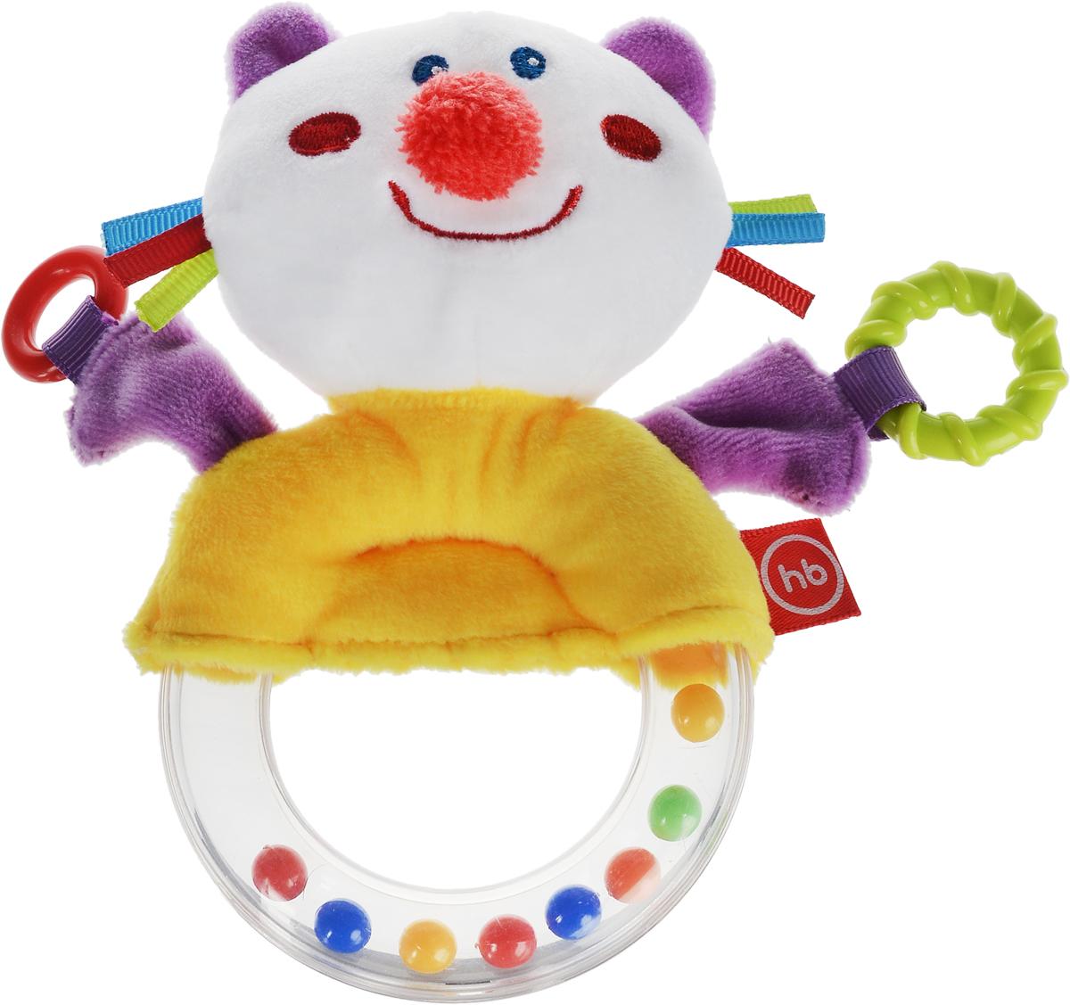 Happy Baby Погремушка-пищалка Funny Kitty happy baby погремушка прорезыватель музыкальная от 3 мес
