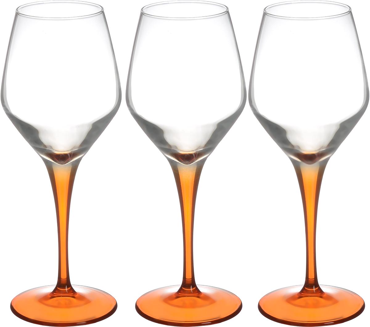 Набор фужеров Pasabahce Workshop Dream, цвет: прозрачный, оранжевый, 380 мл, 3 штVT-1520(SR)Набор Pasabahce Workshop Dream, выполненный из стекла прозрачного и оранжевого цвета, состоит из 3 изящных фужеров на ножках, которые излучают приятный блеск и издают мелодичный хрустальный звон. Фужеры идеально подойдут для сервировки стола и станут отличным подарком к любому празднику. Диаметр (по верхнему краю): 6 см.Высота фужера: 22,5 см.Диаметр основания: 8 см.
