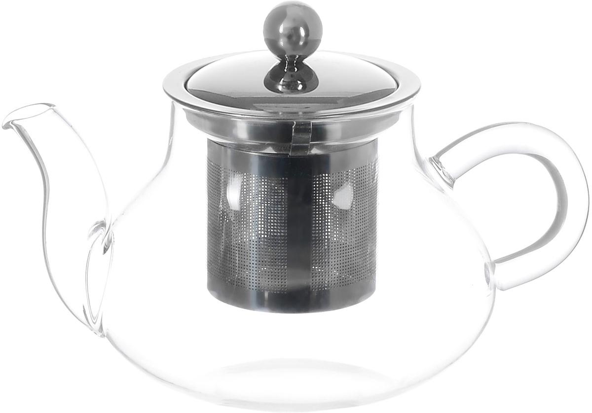 Чайник заварочный Hunan Provincial Годжи, 550 млVT-1520(SR)Заварочный чайник Hunan Provincial Годжи изготовлен из стекла. Пить чай из такого чайника сплошное удовольствие! Полностью прозрачная форма позволяет любоваться цветом своего любимого напитка. Устойчивая основа, широкий носик, удобная ручка - все выполнено идеально для достижения полного комфорта в использовании. Внутреннее сито выполнено из металла. После того, как чай заварился, колбу лучше всего достать из чайника, для того чтобы чайный лист не перезаваривался.Диаметр чайника (по верхнему краю): 7 см. Высота чайника (без учета крышки): 8,5 см. Высота чайника (с учетом крышки): 11 см.Высота фильтра: 6 см.